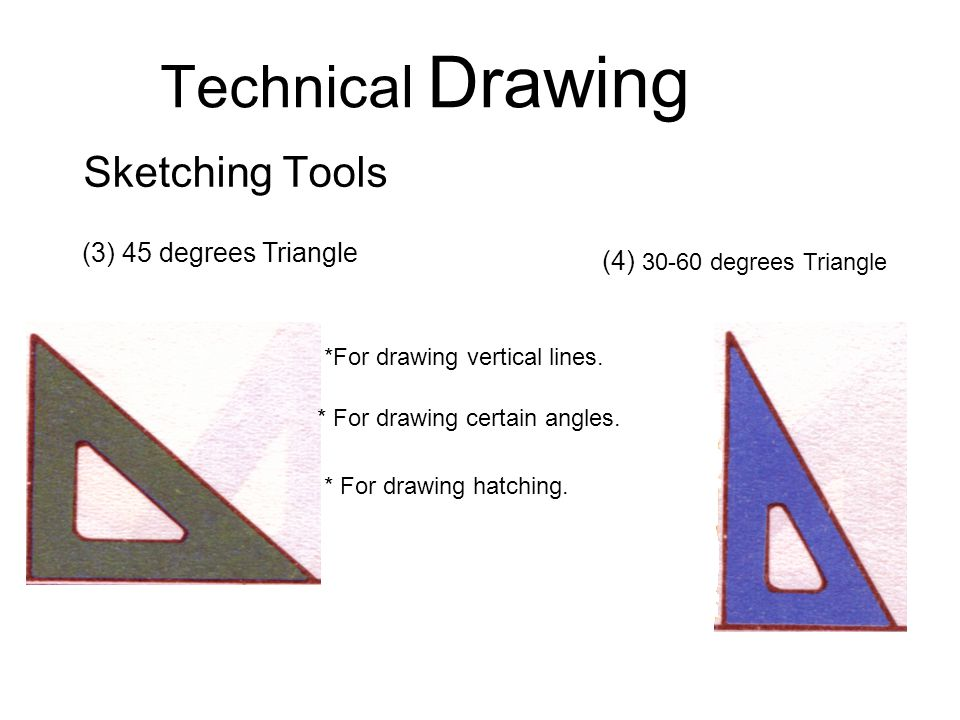 Technical Drawing Sketching Tools - ppt download
