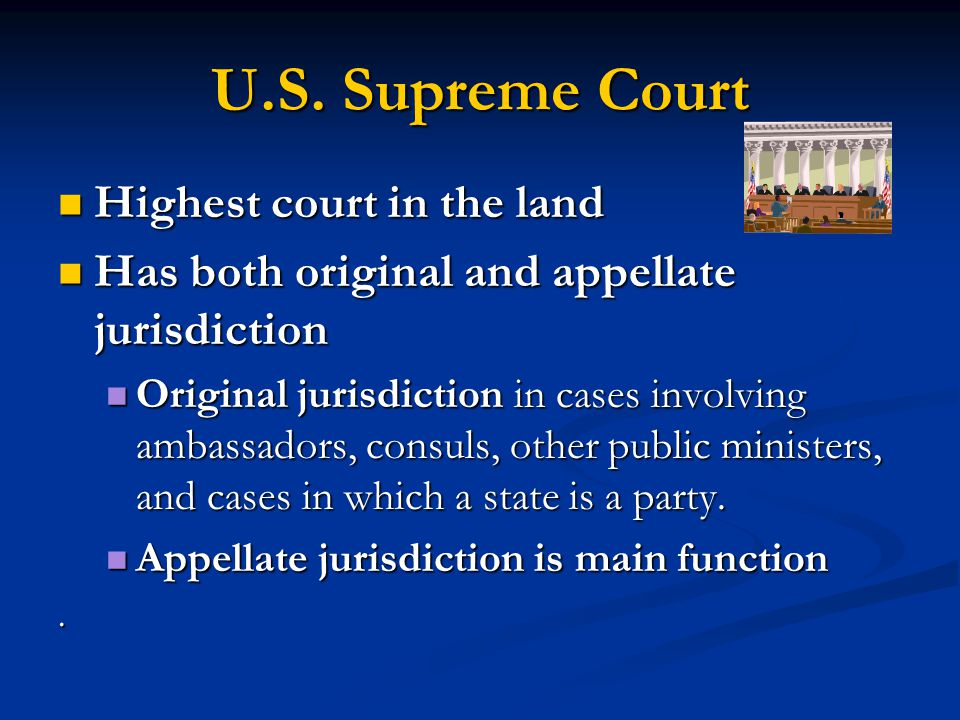 U.S. Supreme Court Highest court in the land