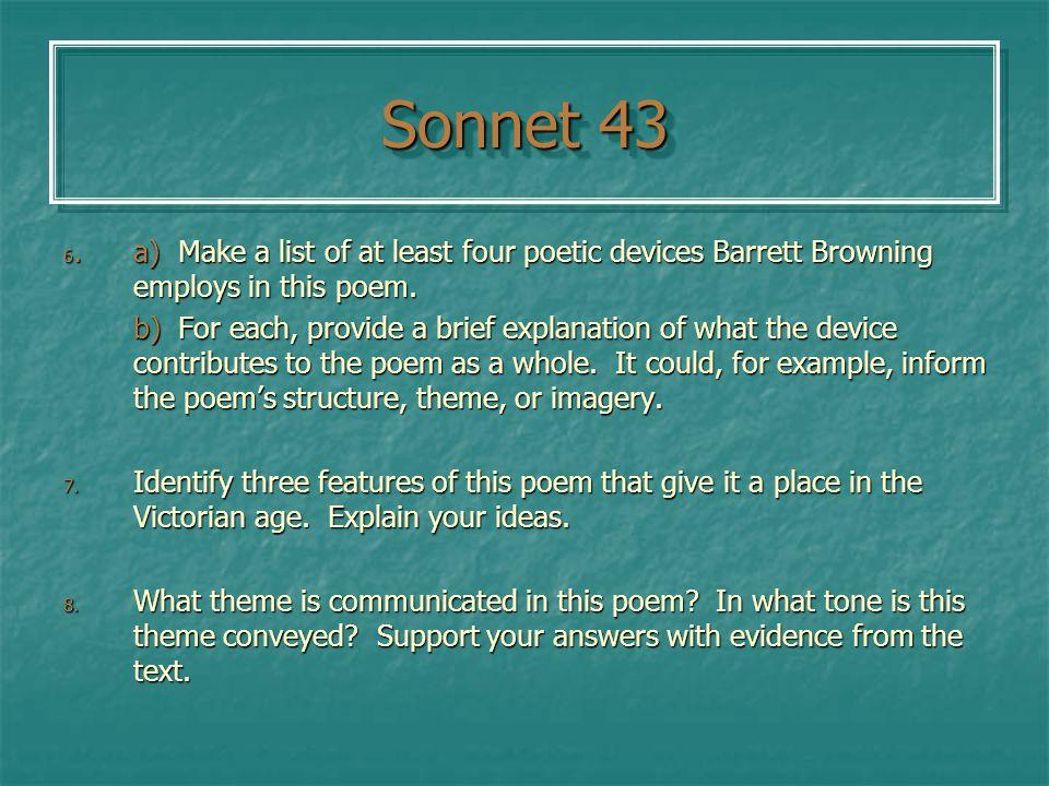 metaphors in sonnet 43