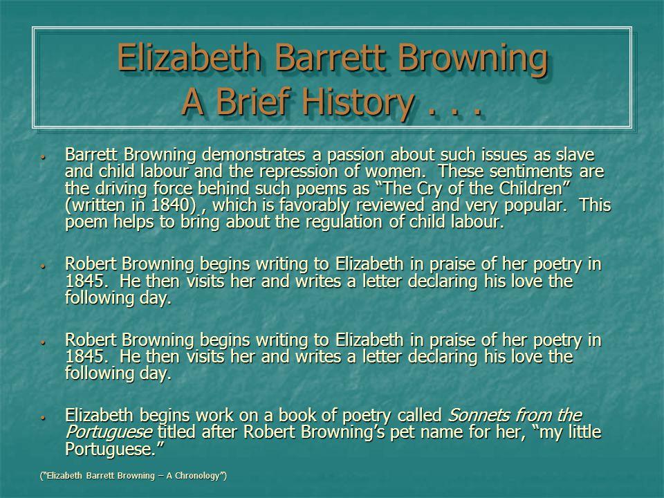 Elizabeth Barrett Browning - ppt video online download