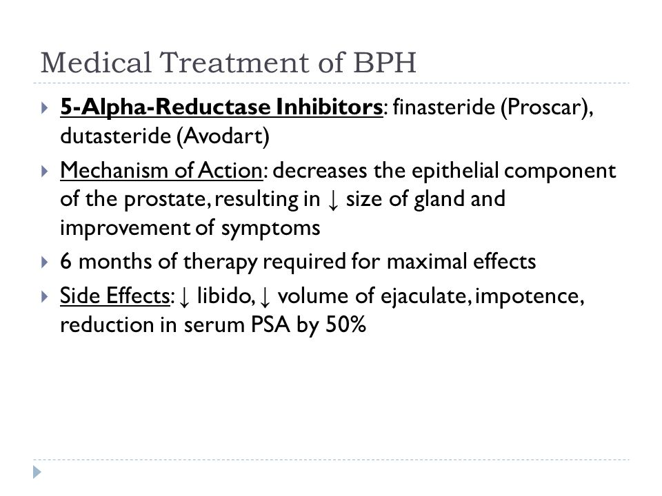 9 Medical Treatment Of Bph 5 Alpha Reductase Inhibitors
