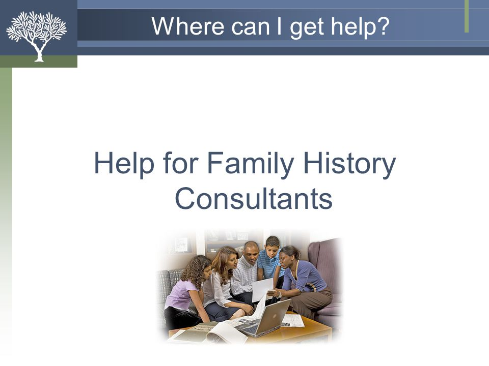 Help for Family History Consultants