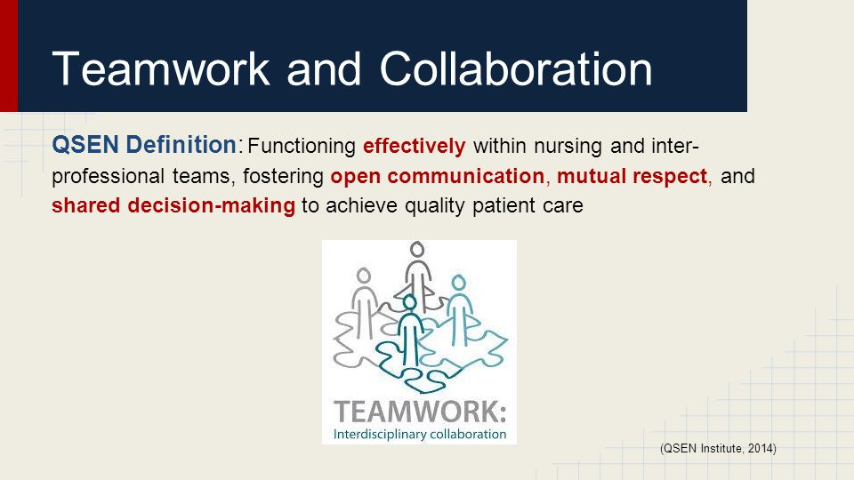 integrating qsen competencies in the workplace teamwork and