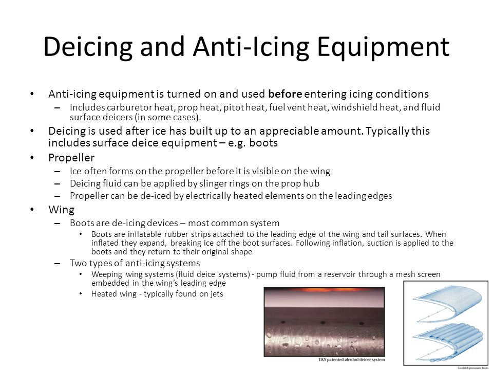 Deicing And Anti Icing Equipment on Carburetor Icing