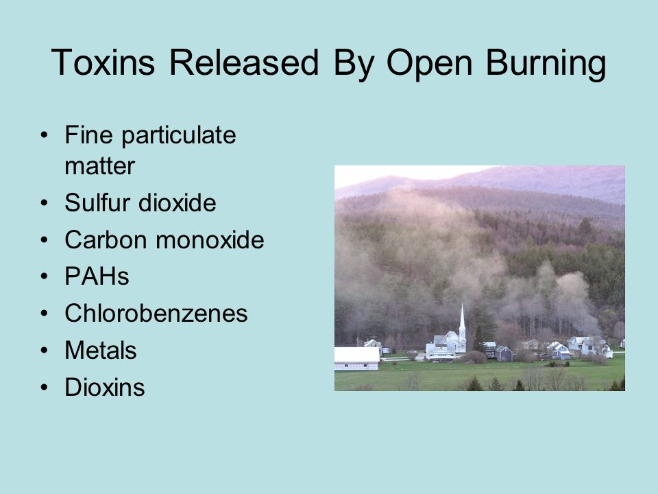 Toxins Released By Open Burning