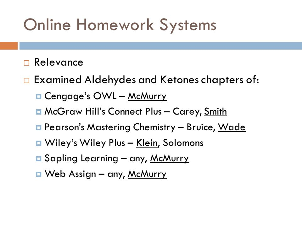 Organic chemistry textbooks and online homework systems ppt video online homework systems fandeluxe Images