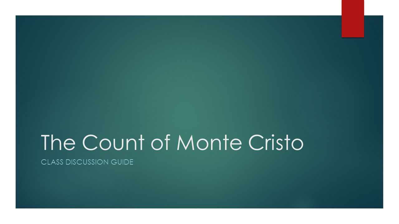 the count of monte cristo reaction