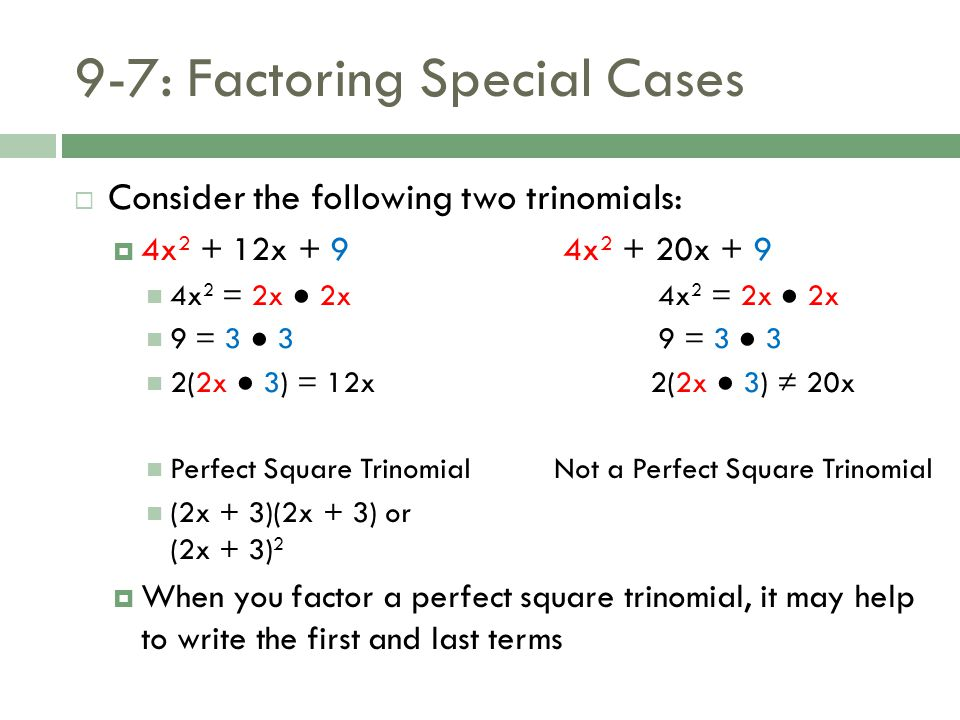 97 Factoring Special Cases Ppt Download. 97 Factoring Special Cases. Worksheet. Factoring Trinomials Worksheet Special Cases At Mspartners.co