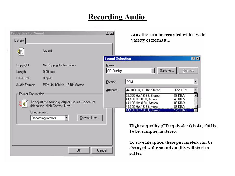 Steps in Transferring Audio to CDs - ppt download