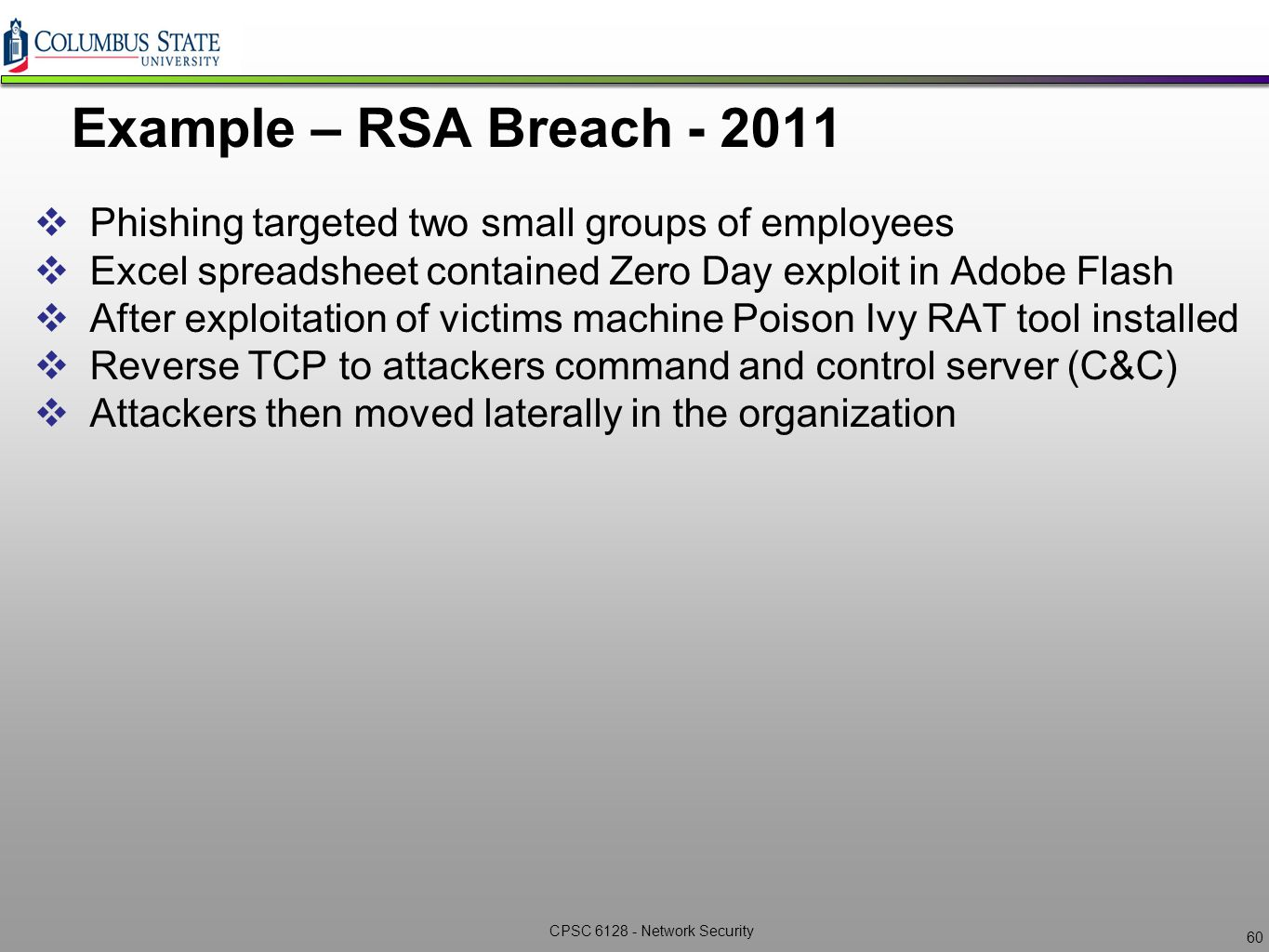Network Security CPSC6128 – Lecture 4 Post Exploitation ppt video