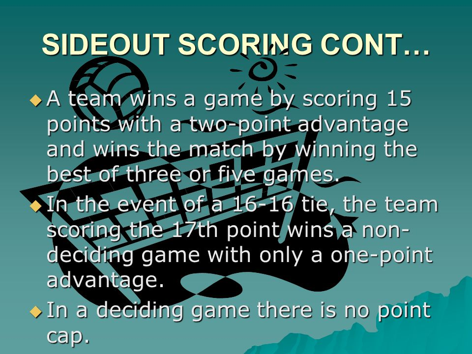 SIDEOUT SCORING CONT…