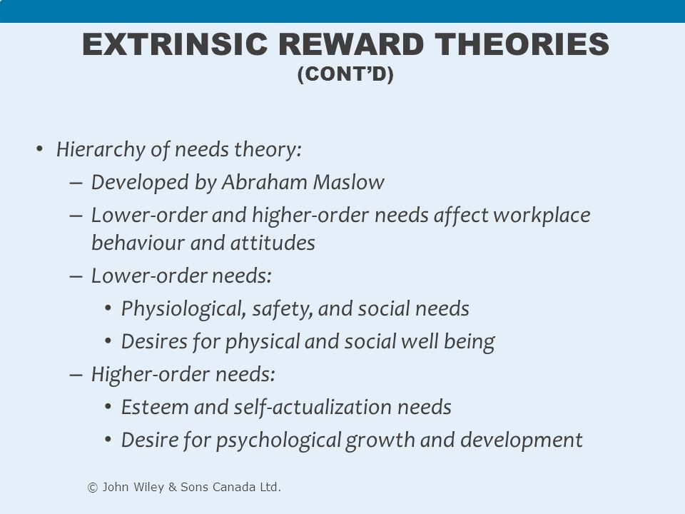 extrinsic reward theories contd