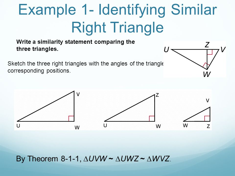 8-1 Similarity in Right Triangles - ppt video online download