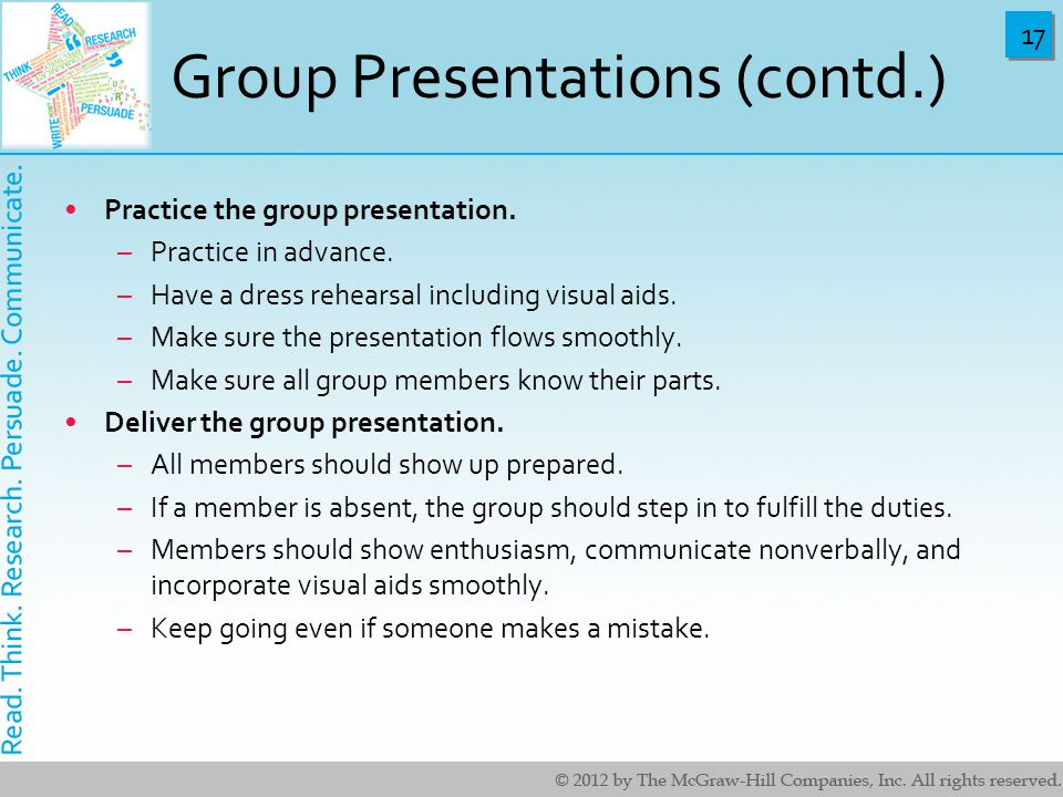 Group Presentations (contd.)