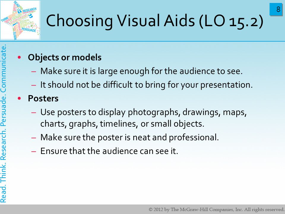 Choosing Visual Aids (LO 15.2)