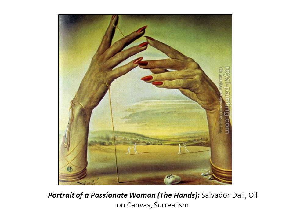 Portrait of a Passionate Woman (The Hands): Salvador Dali, Oil on Canvas, Surrealism