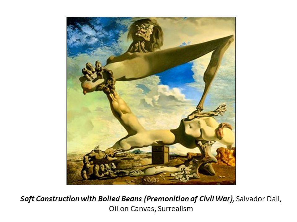 Soft Construction with Boiled Beans (Premonition of Civil War), Salvador Dali, Oil on Canvas, Surrealism