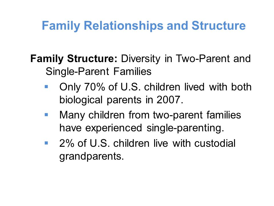 Family Relationships and Structure