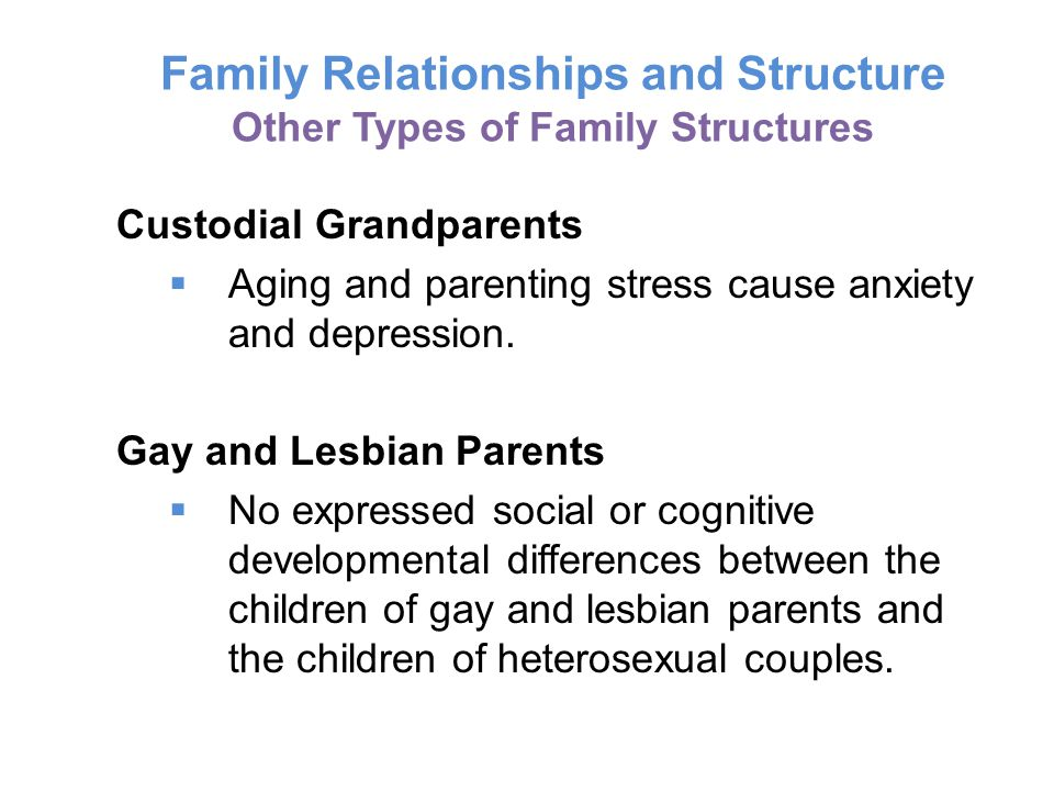 Family Relationships and Structure Other Types of Family Structures