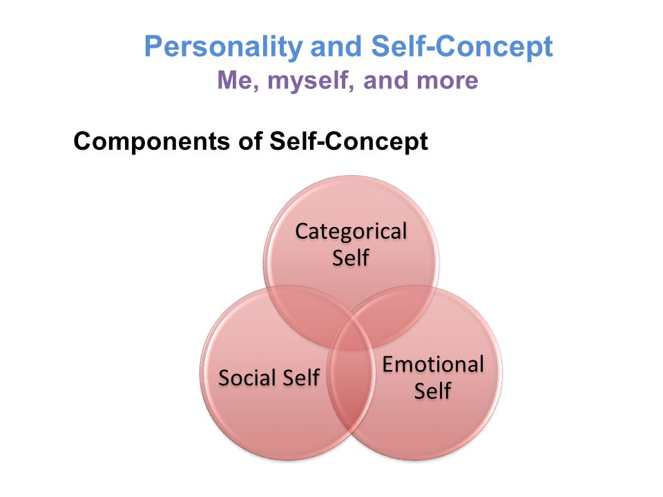 Personality and Self-Concept Me, myself, and more