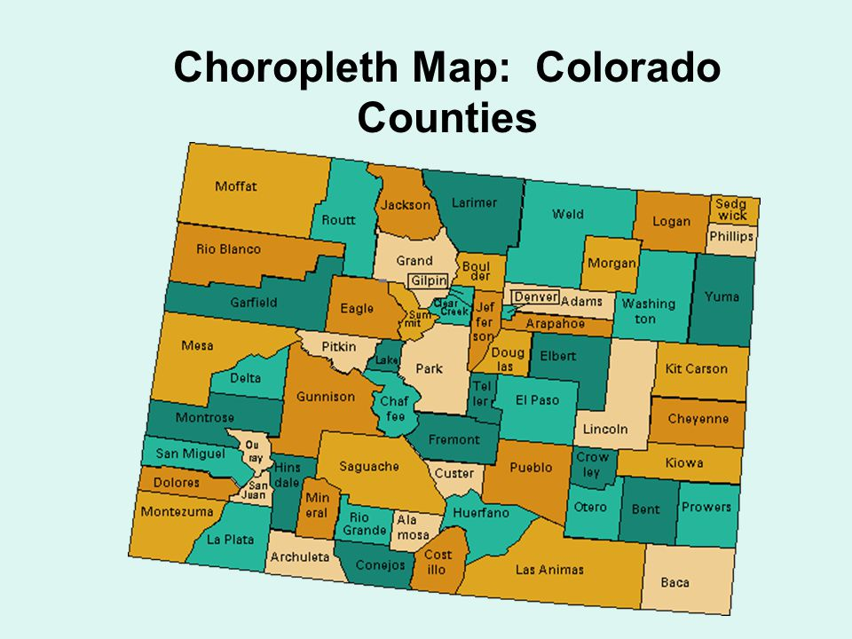 Thematic Maps Choropleth, Proportional/Graduated Symbol