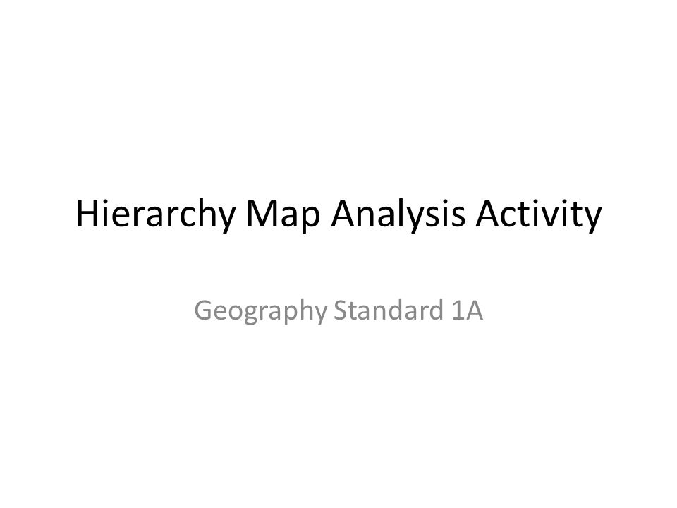 Hierarchy Map Analysis Activity