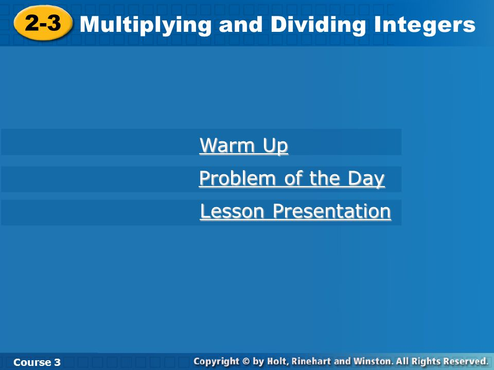 Multiplying and Dividing Integers - ppt download