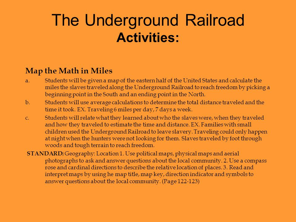 The Underground Railroad - ppt video online download