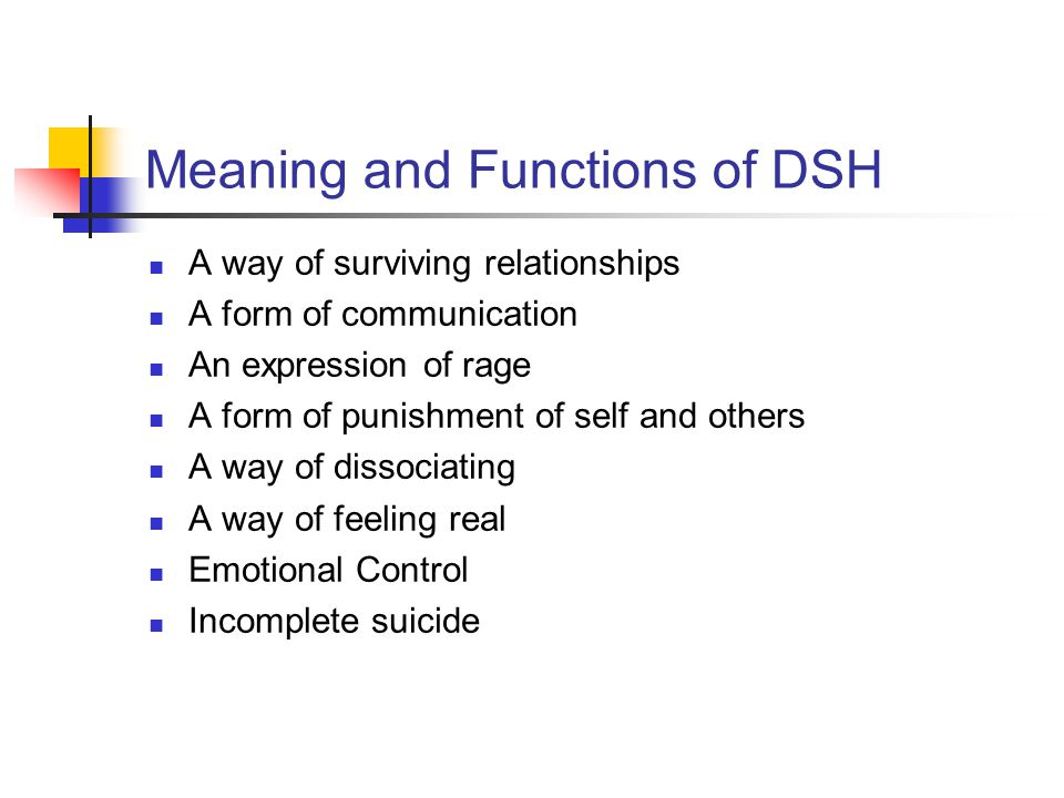 Meaning and Functions of DSH