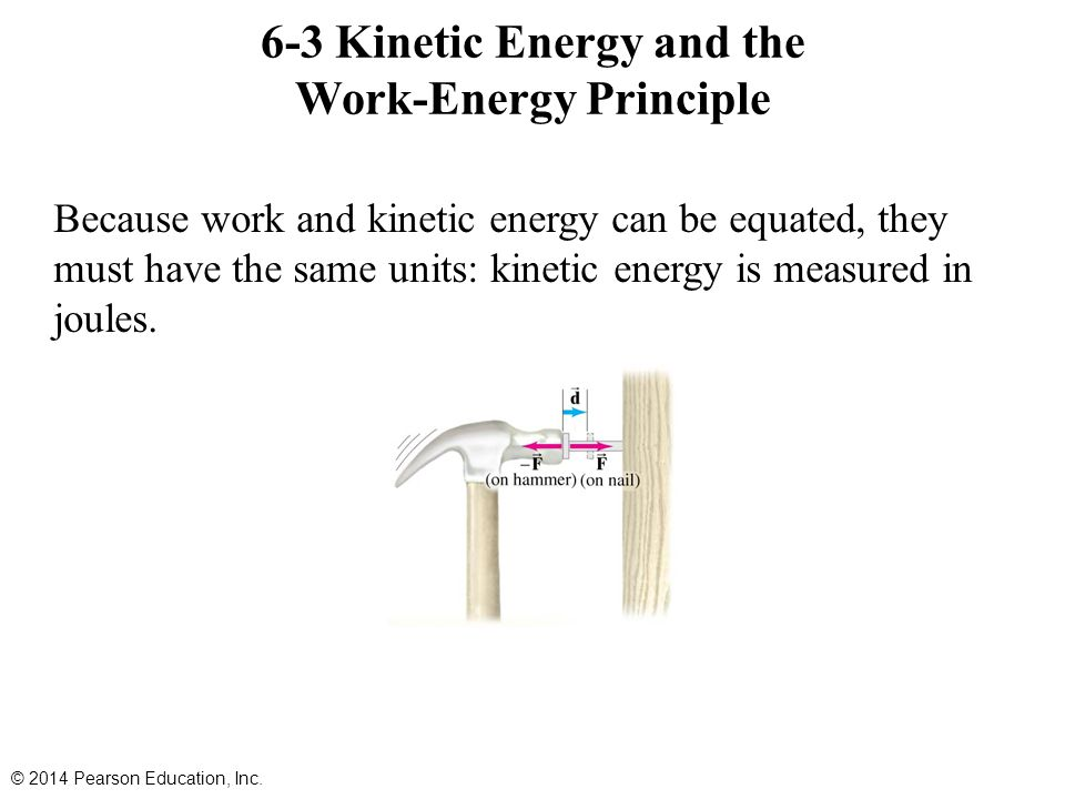 6-3 Kinetic Energy and the Work-Energy Principle