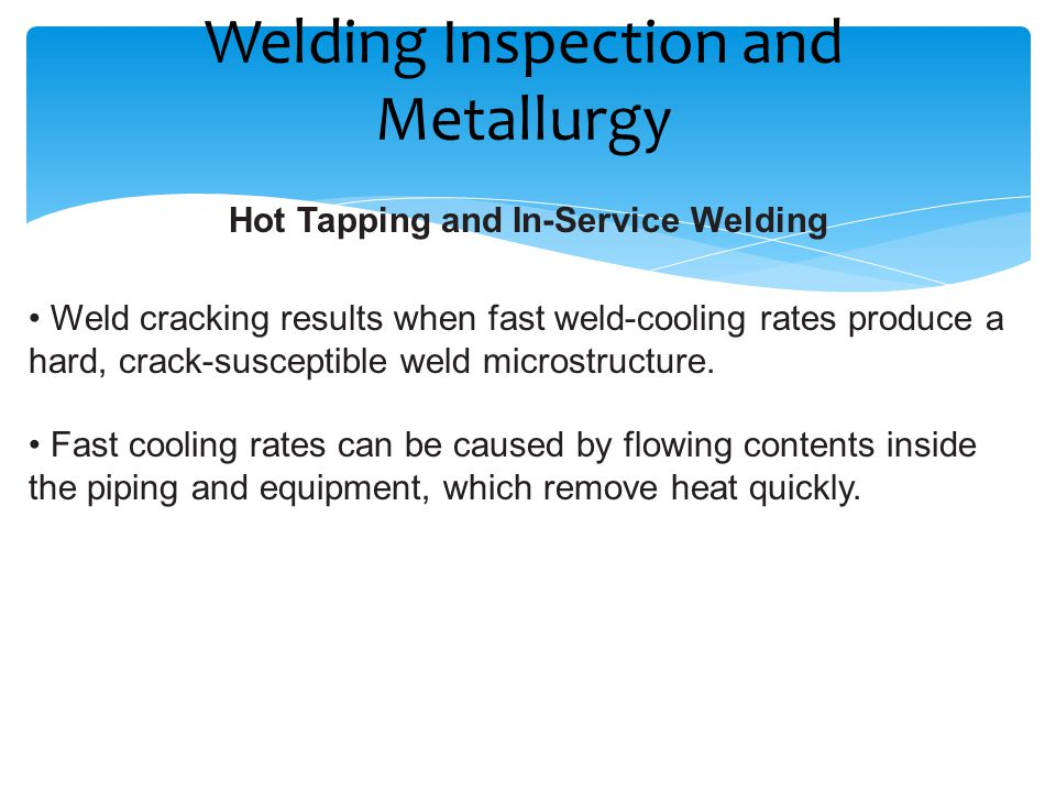 Welding Inspection and Metallurgy - ppt download