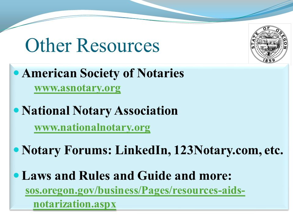 oregon notary guide