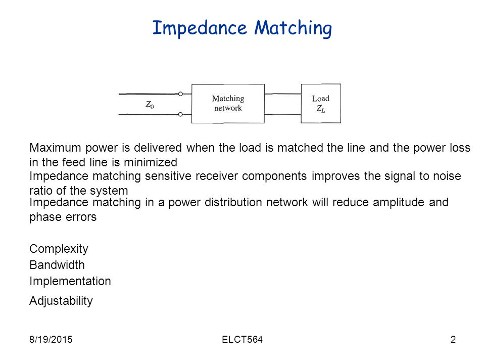 Chapter 5: Impedance Matching and Tuning - ppt video online