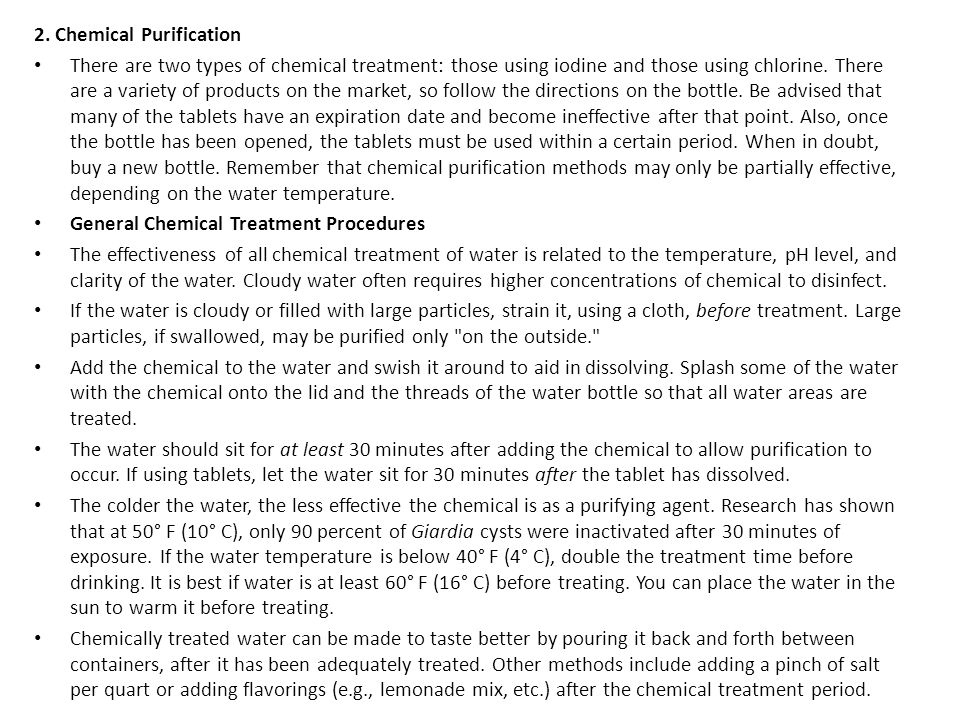 2. Chemical Purification