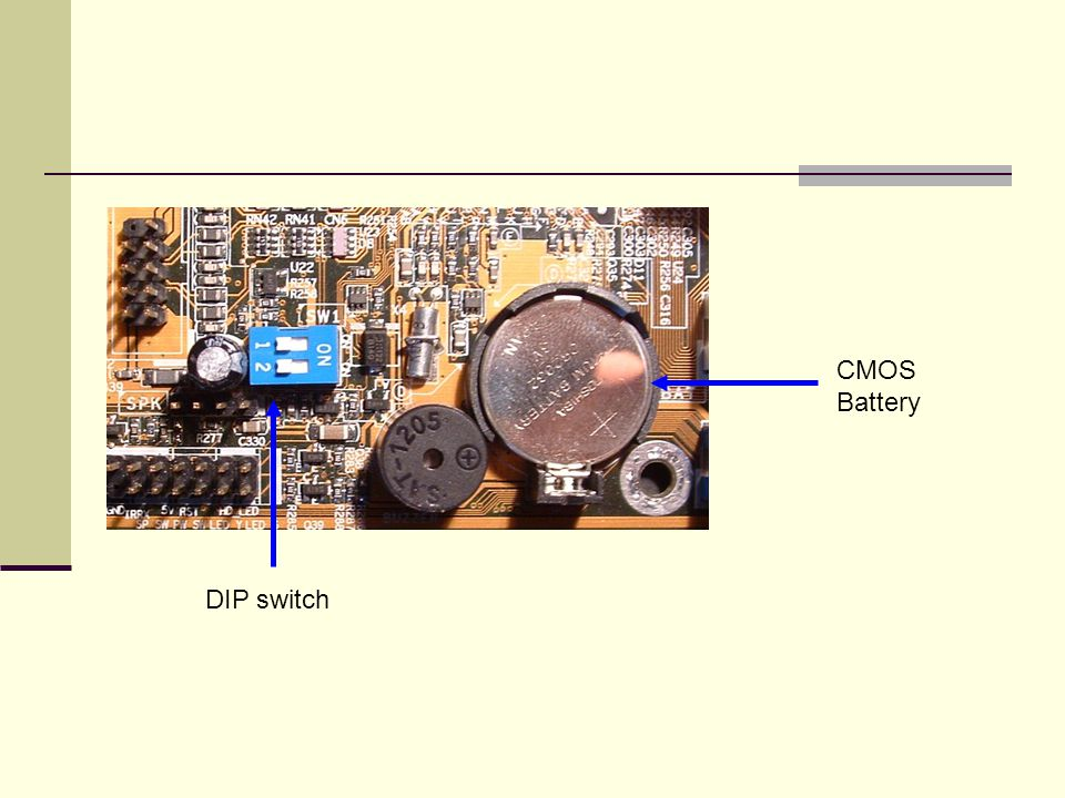 CMOS Battery DIP switch