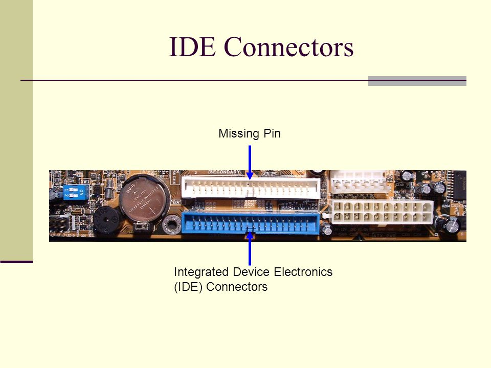 IDE Connectors Missing Pin Integrated Device Electronics