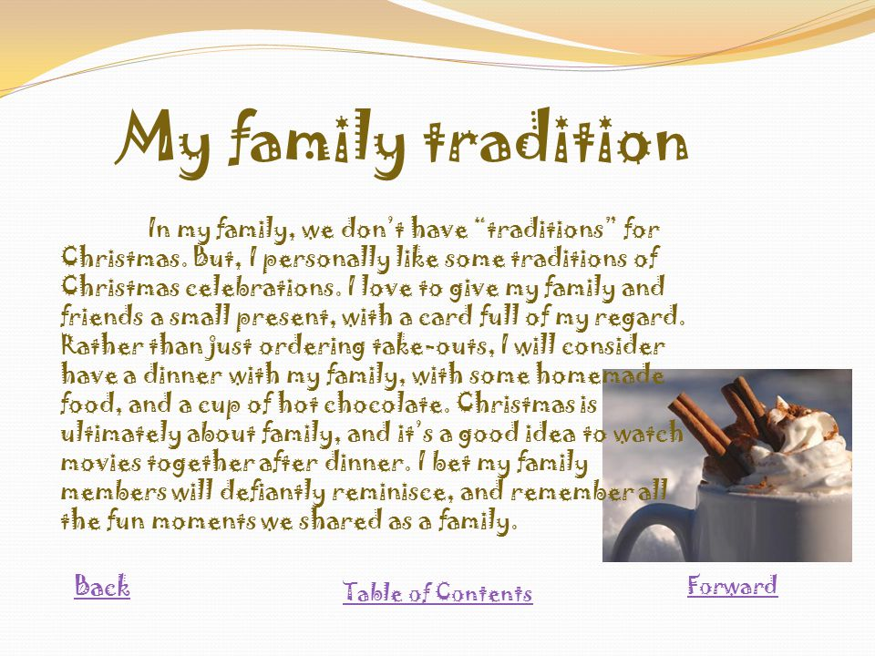 Family Christmas Traditions Essay | Mistyhamel