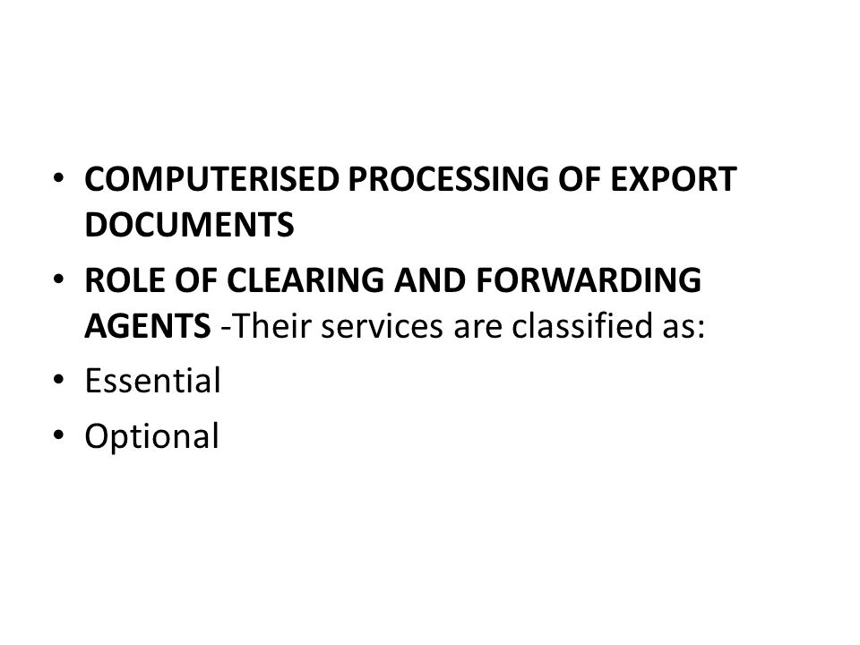 CUSTOM CLEARANCE OF EXPORT CARGO - ppt video online download