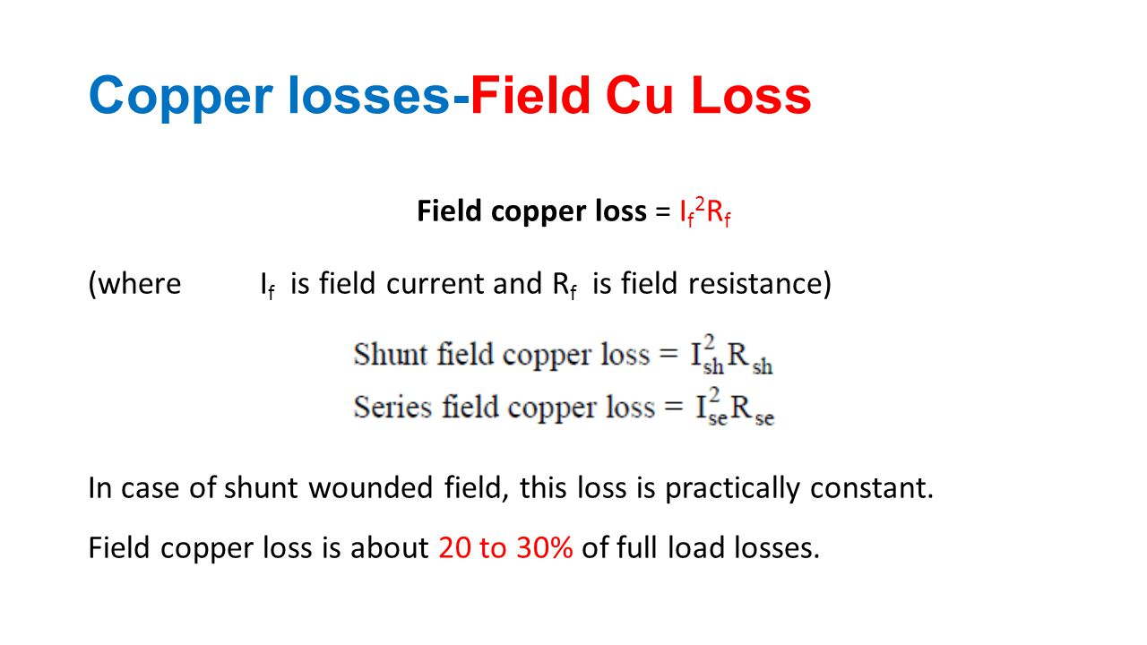 Copper losses-Field Cu Loss