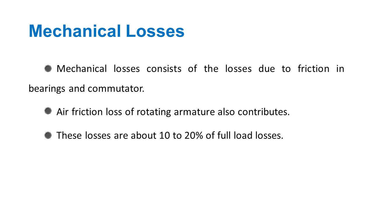 Mechanical Losses