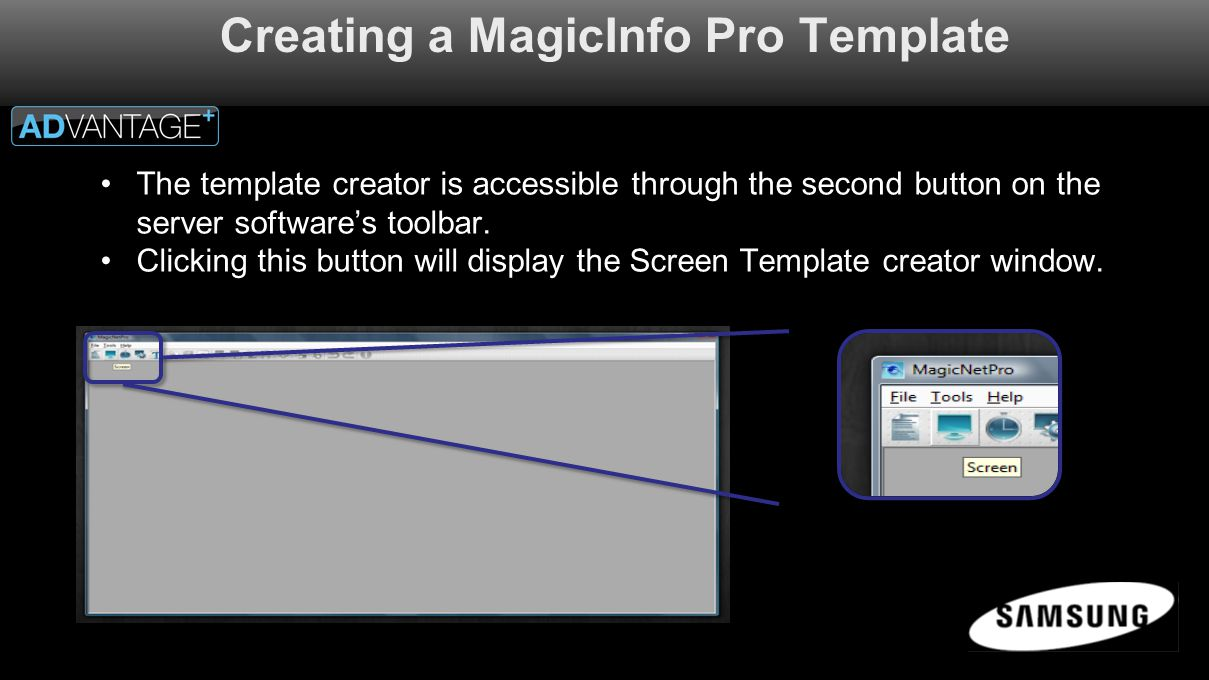 Creating a MagicInfo Pro Screen Template - ppt video online download