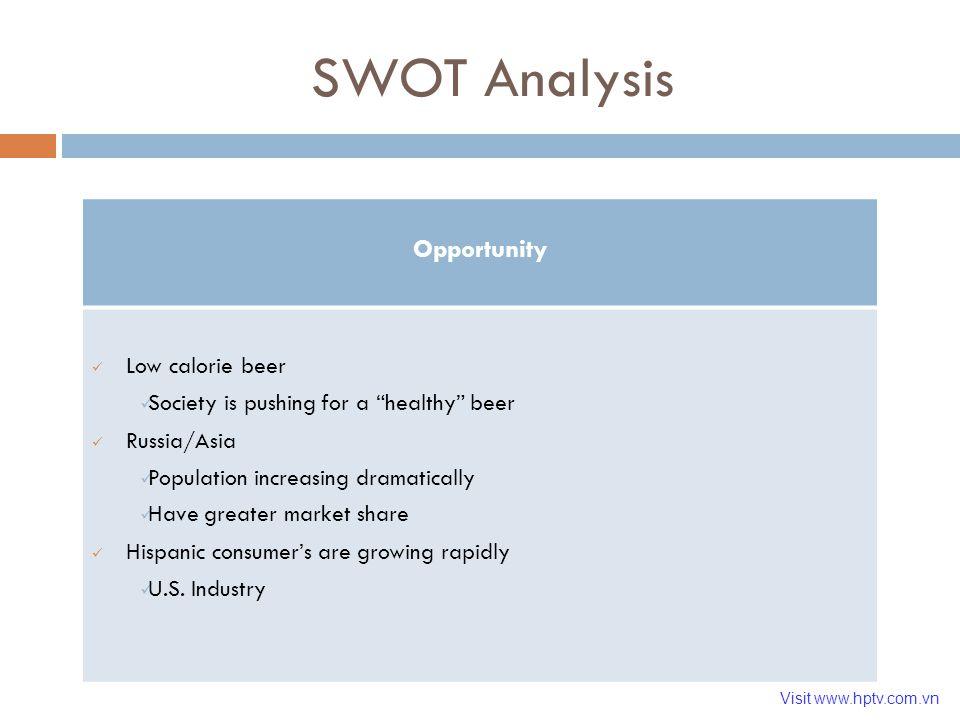 swot analysis beer industry