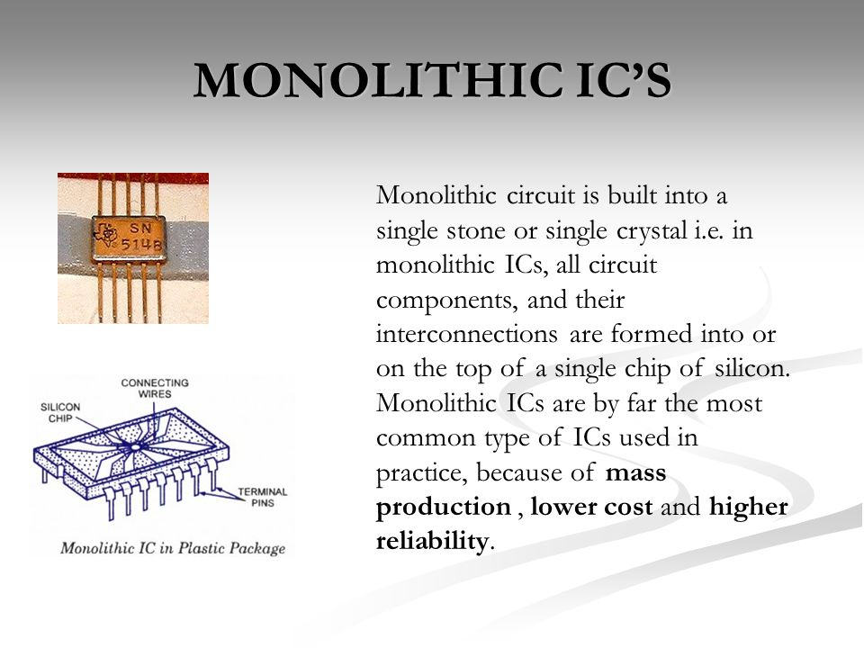 integrated circuits ppt video online downloadMonolithic Ic #11