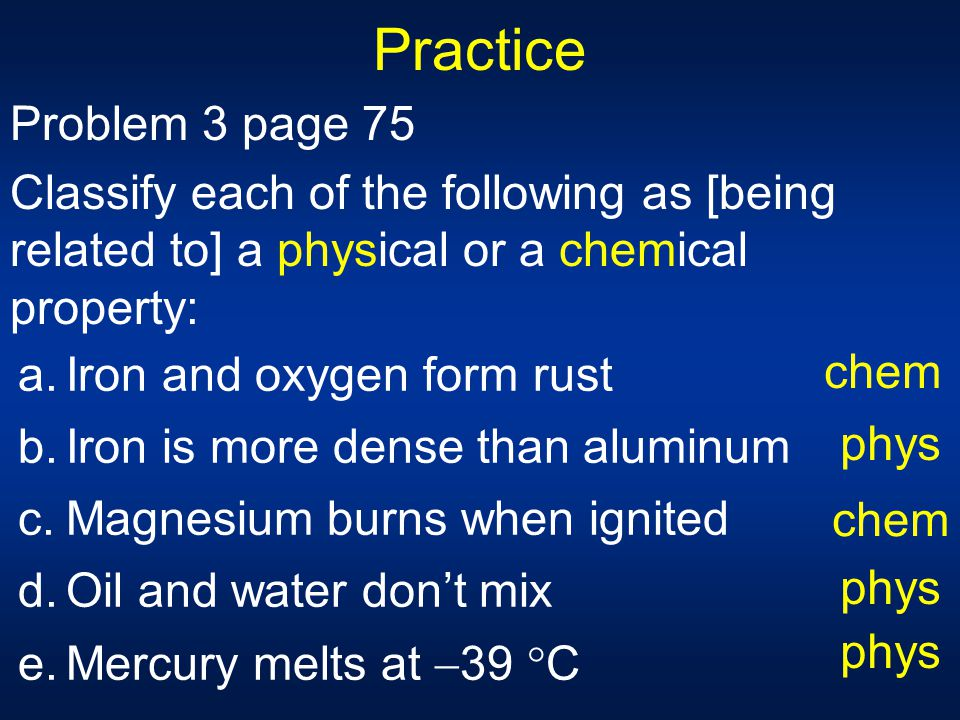 Oil And Water Don T Mix Physical Property Or Chemical
