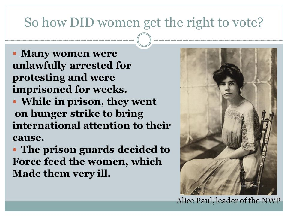 alice paul and the womens suffrage movement essay Alice paul, a highly intelligent college graduate of the progressive era, was a key american suffragist and activist along with lucy burns and others, she led a successful campaign for women's suffrage that resulted in the passage of the nineteenth amendment to the us constitution in 1920.