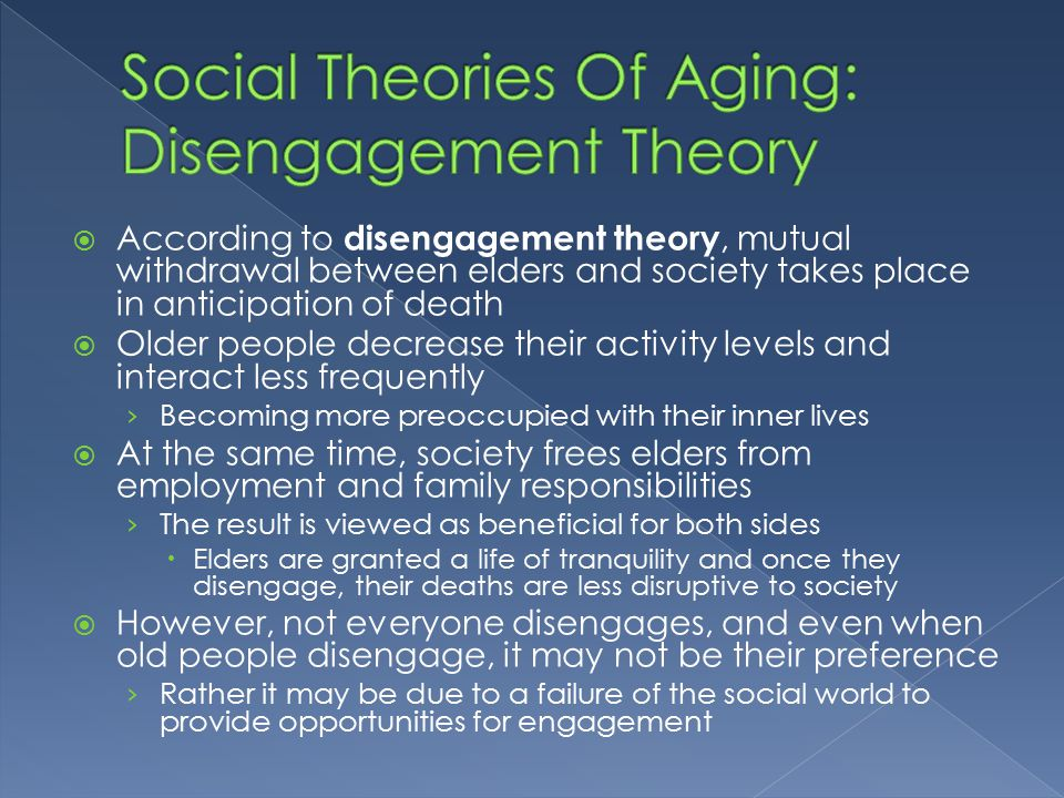 the disengagement theory
