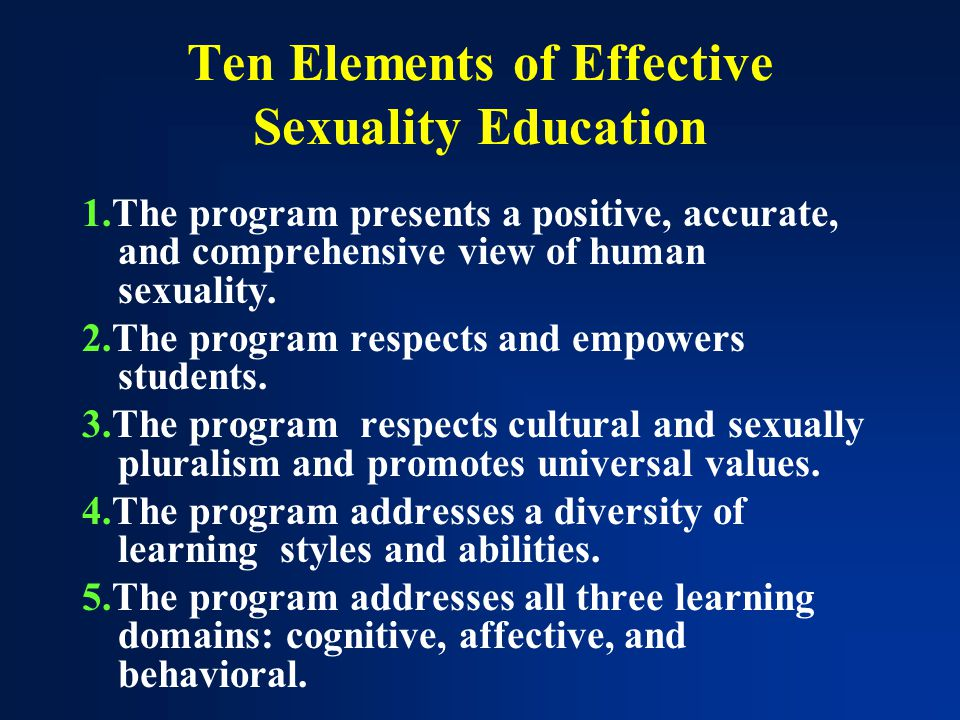Comprehensive sexuality education effectiveness