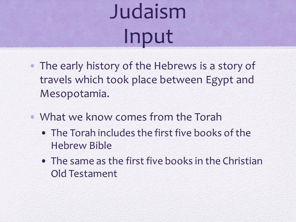 The Ancient Hebrews And Judaism Ppt Video Online Download