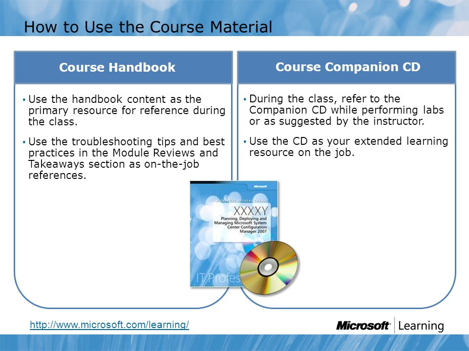 How to Use the Course Material