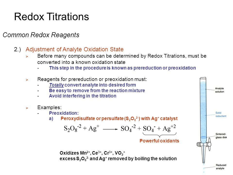 redox titration discussion